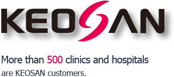 More than 500 clinics and hospitals  are KEOSAN customers.